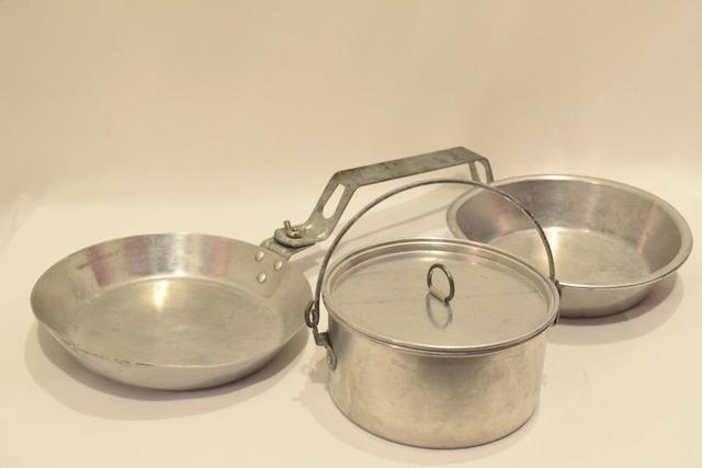 USED 50-60s Boy Scout Vintage Meskit Cooker set 010
