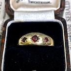 イギリス ヴィンテージ リング 指輪 ガーネットのシンプルジプシーリング