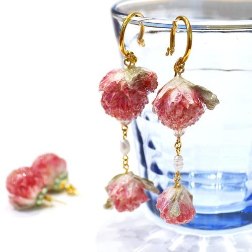 miyua 淡水パール+フラワーピアス