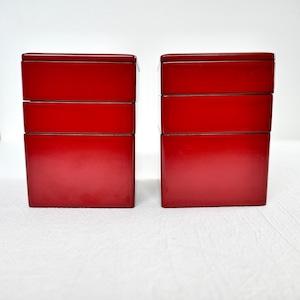 【059】輪島塗 三段弁当ミニ 明治 (3段1セット) / Wajima Nuri Bento Box/ Meiji Era
