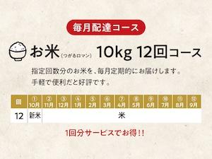 【D】お米(つがるロマン)10kg 12回コース