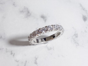 round cut eternity ring