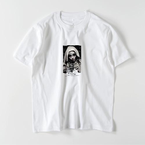 """5.6oz Art Print Cotton S/S TEE """"Box Maria"""""""