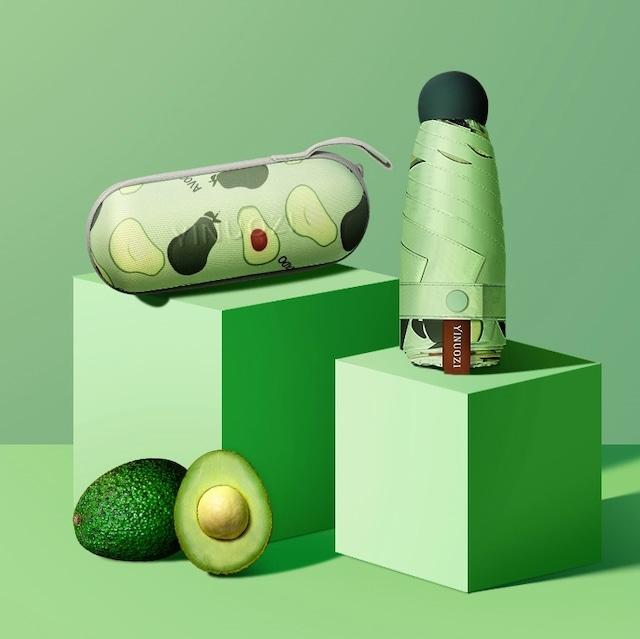 【小物】軽量晴雨兼用超mini フルーツ柄シンプル おしゃれ UVカット99%折り畳み日傘42907878