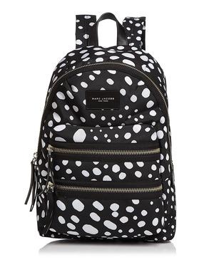 MARC JACOBS Biker Wavy Spot Printed Backpack