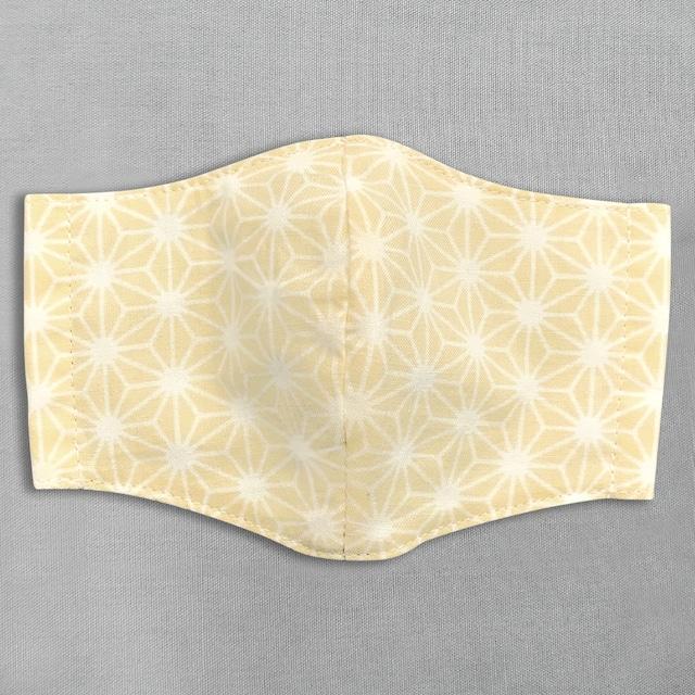デザイナーズ マスク|麻の葉|黄色
