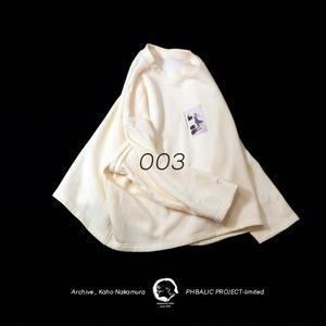 ARCHIVE_NAKAMURA KAHO Wide sweat  [ White ]_003