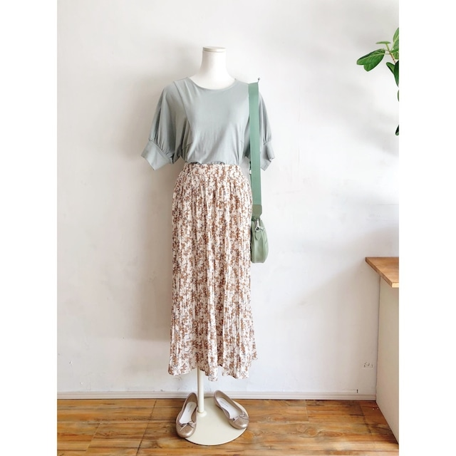 小花消しプリーツスカート