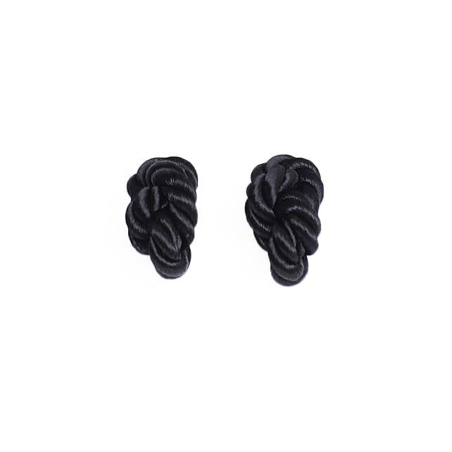 NOEUD (ヌー) 8knotで作られたアクセサリー 【ピアス・イヤリング】カラー:ブラック