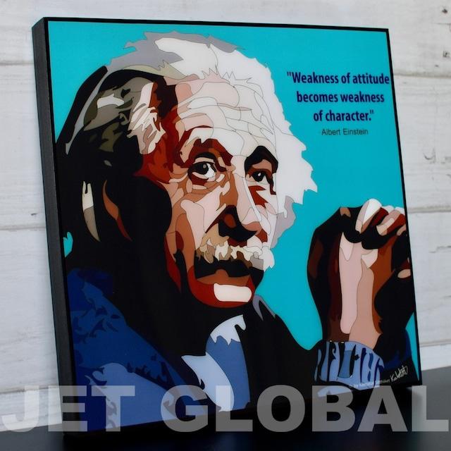 アインシュタイン/ ALBERT EINSTEIN : BLUE / Lサイズ 52cm / PAPM_0006
