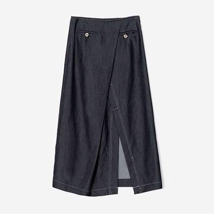 Denim A-line skirt(デニムAラインスカート)b-453