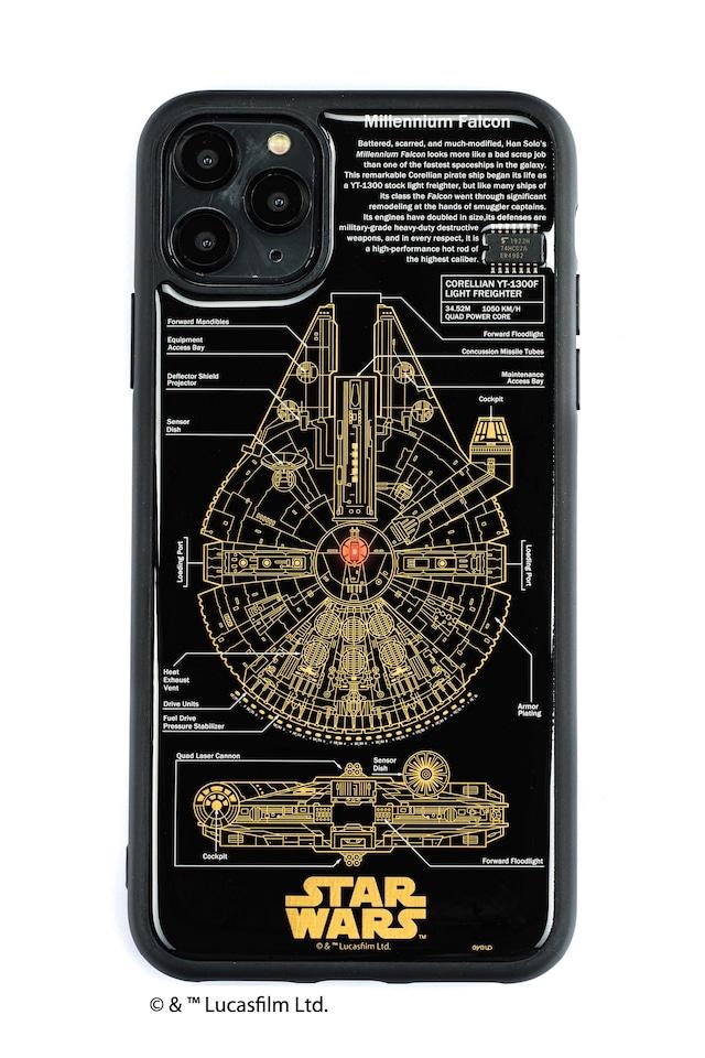 FLASH M-FALCON 基板アート iPhone 11 Pro Max ケース  黒【東京回路線図A5クリアファイルをプレゼント】