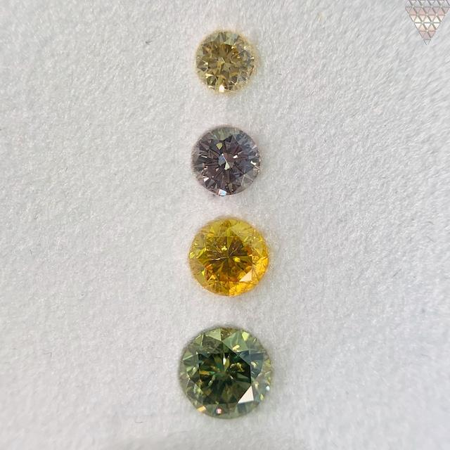 合計  0.86 ct 天然 カラー ダイヤモンド 4 ピース GIA  2 点 付 マルチスタイル / カラー FANCY DIAMOND 【DEF GIA MULTI】