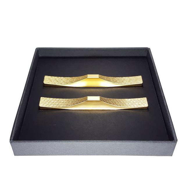 【柄の組み合わせ自由】カトラリーレスト 2個セットC/ステンレス(金メッキ) 縁起のいい世界遺産・富士山をモチーフにした箸置き・フォークレスト・ナイフレスト・スプーンレスト