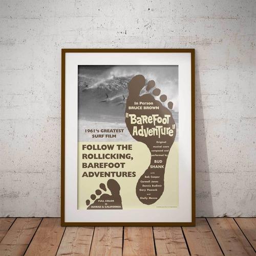 サーフィン映画A3ポスター・ブルースブラウンフィルム・Barefoot Adventure