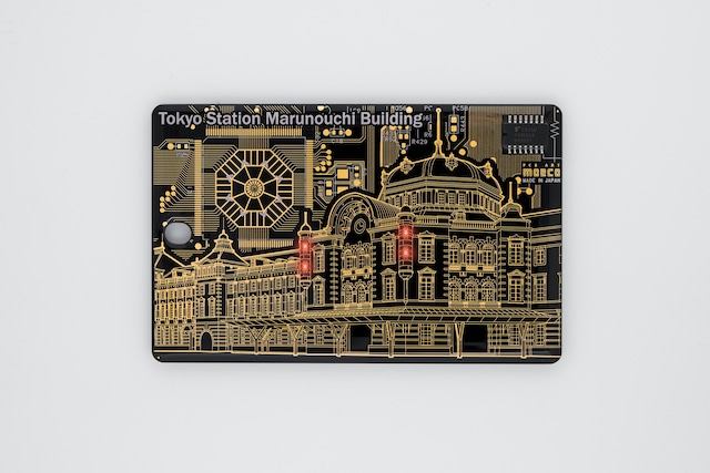 FLASH 東京駅丸の内駅舎 ICカードケース  黒【名入れ無料サービス実施中】