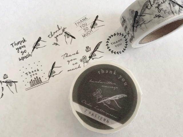 Masking tape【 Handwritten 7pattern thank you 】