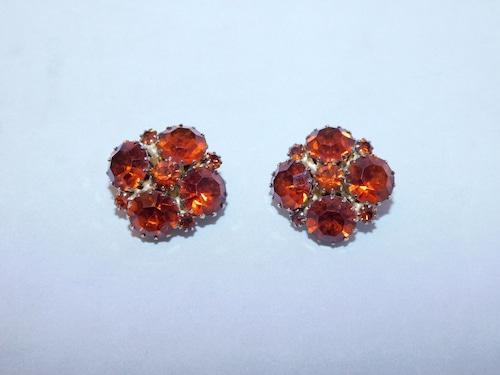 トパーズ色のイヤリング(ビンテージ) topaz color vintage earrings