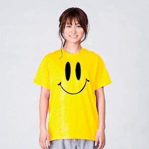 スマイル Tシャツ レディース おしゃれ 白 夏 大きいサイズ 綿100% 160 S M L XL