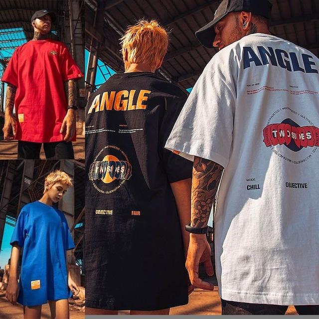 ユニセックス Tシャツ 半袖 メンズ レディース ラウンドネック ワンポイント 英字 プリント オーバーサイズ 大きいサイズ ルーズ ストリート TBN-61679049414