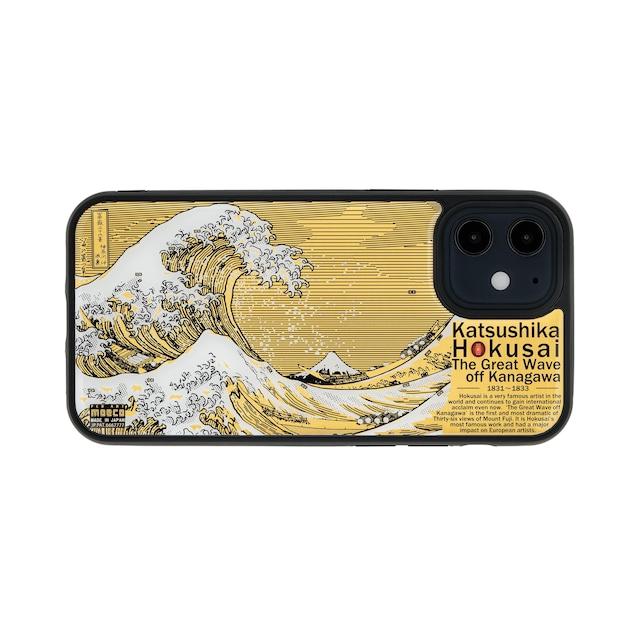 FLASH 神奈川沖浪裏 基板アート iPhone 12mini ケース【東京回路線図A5クリアファイルをプレゼント】