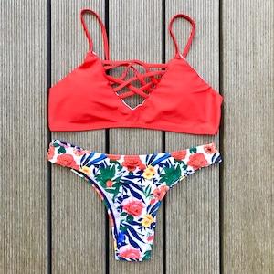 Bikini♡レッドフラワーブラジリアンビキニ