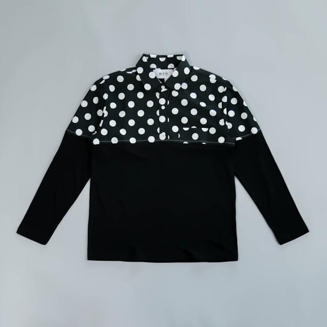WFH Jammies Black Dot Shirt x Black Long T-shirt