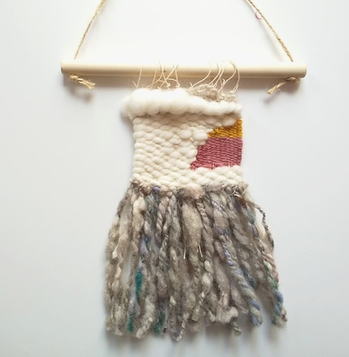 手紡ぎ糸で作る手織りタペストリー ワークショップの参加券&材料セット