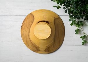 クスノキ材 サラダボウル L(グリーンウッドターニング・木の器・生木の器)/Canaria Wood Works