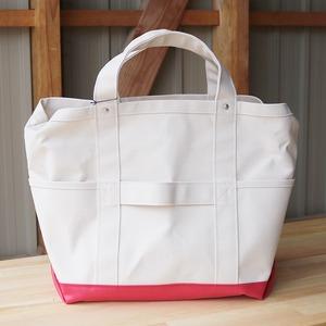 8号帆布TOOL BAG(off white×red)