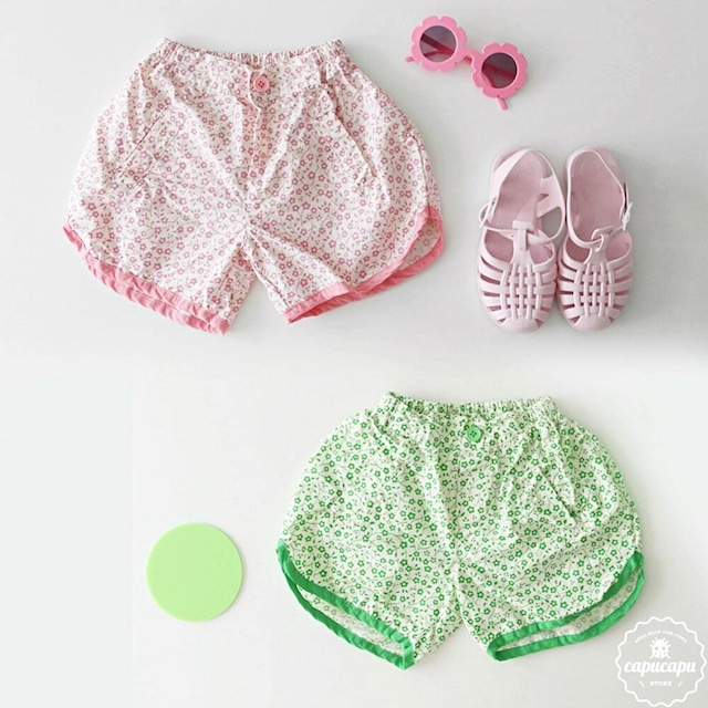 «sold out» guno flower short pants 2colors  フラワーショートパンツ