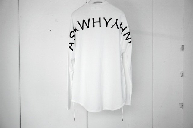 ASKYY / ASKWHYWHY CODE L/S (PRINT) / WHT