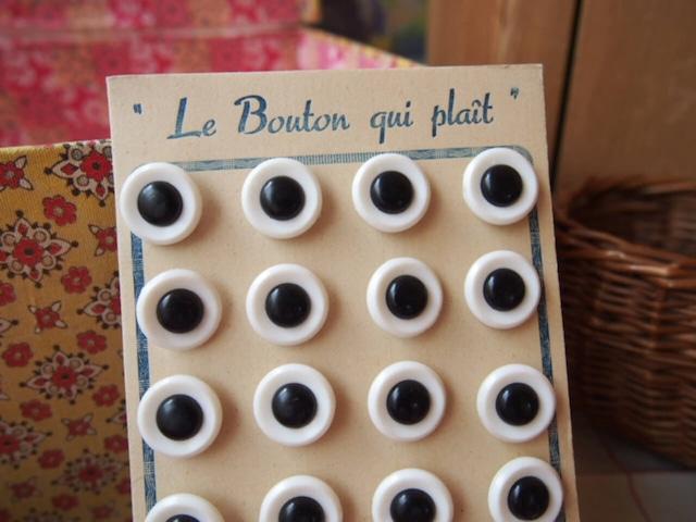 フランスアンティーク ボタンシート