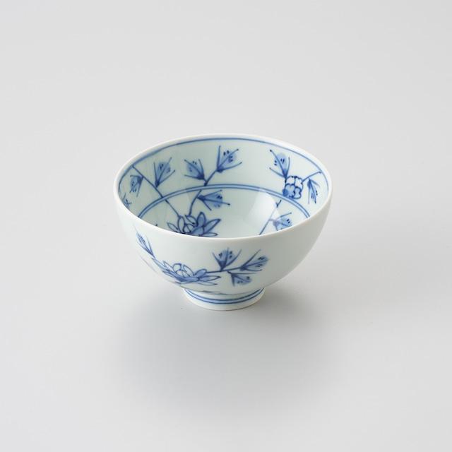 """【青花】""""Classic"""" 3.8寸丸飯碗(花唐草)"""