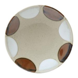 益子焼 つかもと窯 「 Nisai 」 プレート 皿 約25cm 糠柿二彩 TN-17