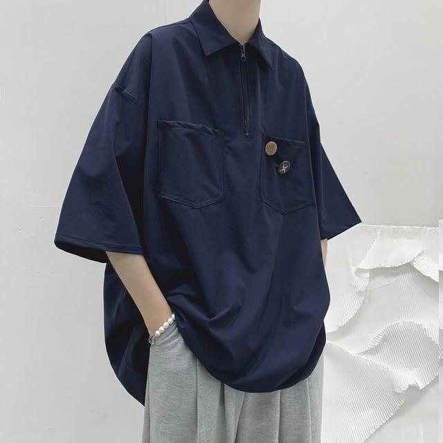 ハーフジップシャツ YH1354