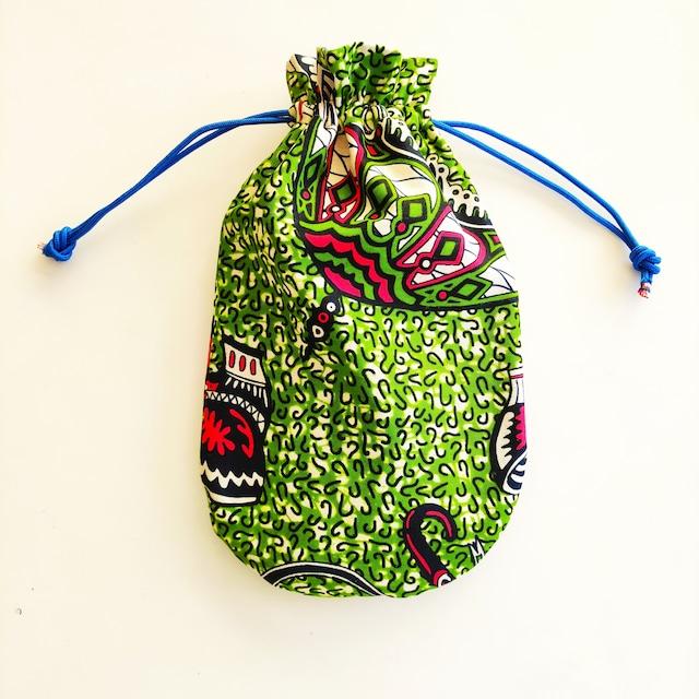 アフリカンファブリック お財布袋 Umbrella 巾着・アフリカンプリント