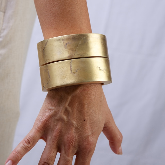 PARTS OF FOUR - Crescent Crevice Bracelet - 902-2-AG(コラボ特注)
