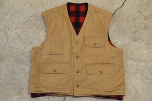 USED 80s Columbia Reversible Cotton×Wool Vest -Large 0839