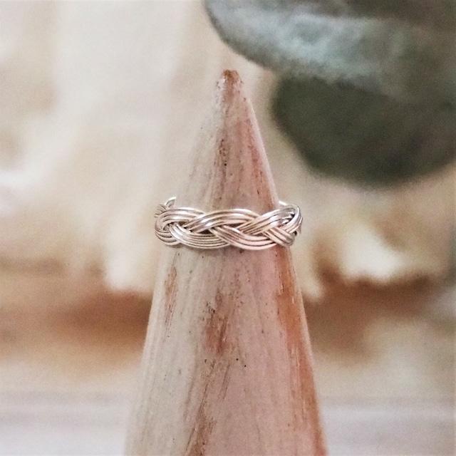 White Braids Ring《SILVER925》18380051【2号〜5号】