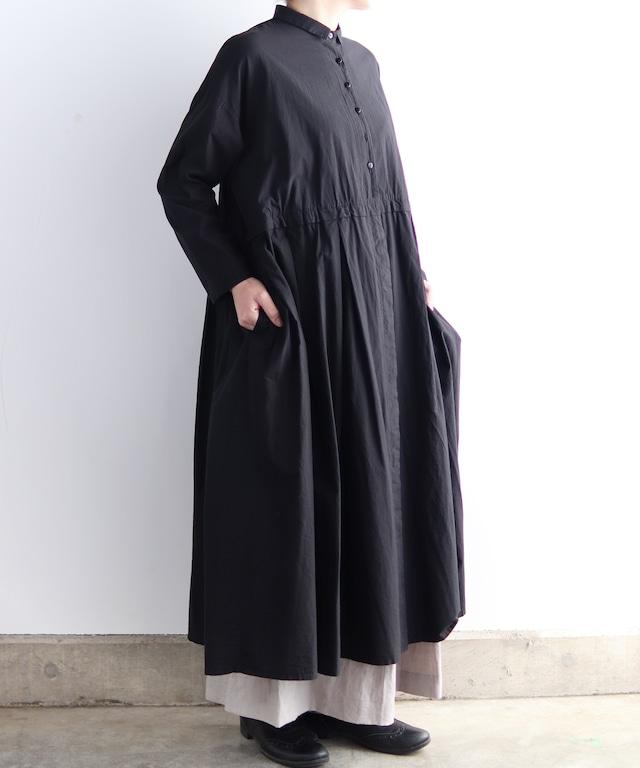 製品染めワンピースドレスコート(evi617 RED/レッド・GRY/グレー・BLK/ブラック)