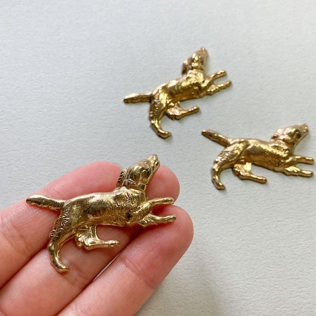 USA真鍮 駆けている犬のパーツ