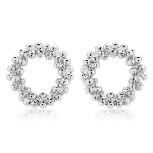 Bubble circle Pierce(silver)