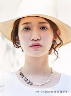 Bon-bon necklace(ボンボンネックレス )EMU-012wp ナチュラル