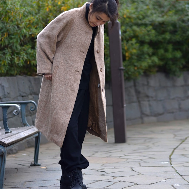 """【MADE IN FRANCE】WEINBERG ラマウールシングルコート """"MANTEAU SANS COL"""""""