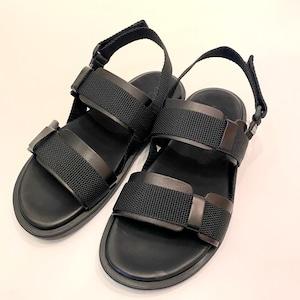 VACCHETA × BOLAZANO Sandal NERO × NERO