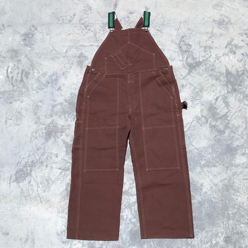 40's 50's MADEWELL メイドウェル ダックオーバーオール 山ポケ ダブルポケット ダブルニー ブラウンダック W45 希少 ヴィンテージ