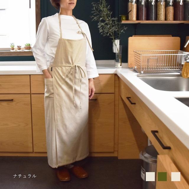【comfortable シリーズ】Housework エプロン/くったりハーフリネン