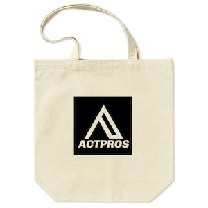 【EQUIPMENT】ACTPROS スクエアロゴ トートバッグ Mサイズ ナチュラル【5colors】