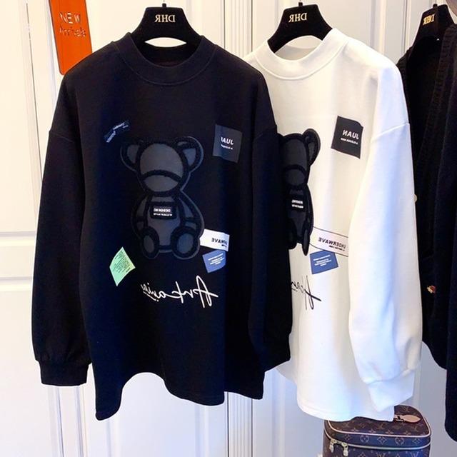 【トップス】カップルファッション長袖合わせやすいラウンドネックパーカー52179577
